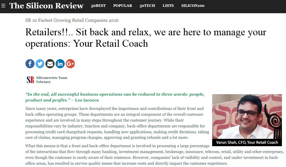 Retailers!!.. Sit back and relax, we are here to manage your operations: Your Retail Coach