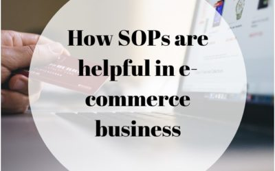 How SOPs are Helpful in E-commerce Business